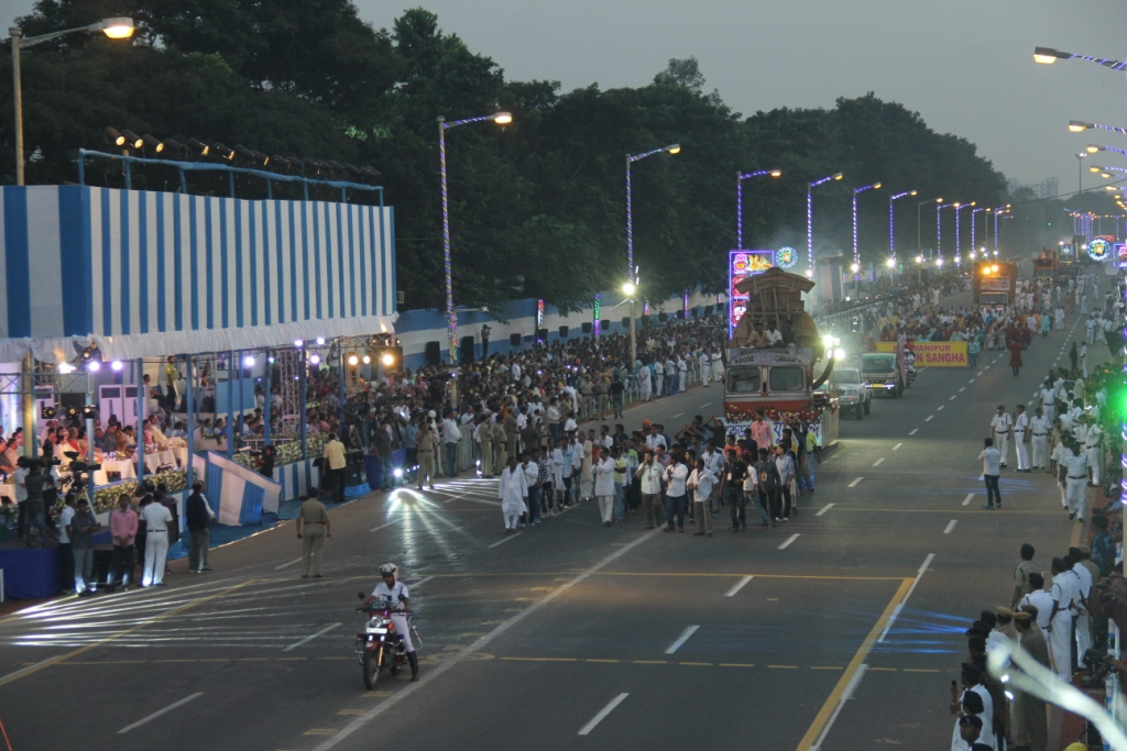 Durg puja immersion procession